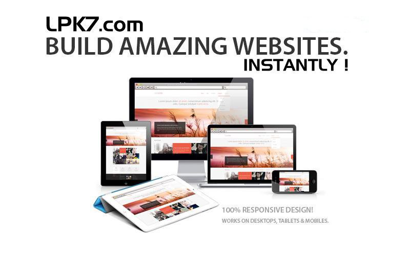 Build Websites in seconds with LPK7, the world's fastest website maker.